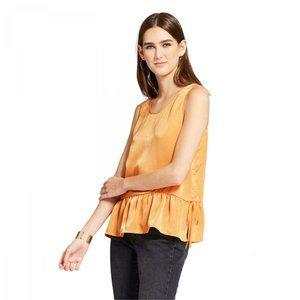 NWT Mossimo Peplum Tank Top Blouse Shirt XS Orange